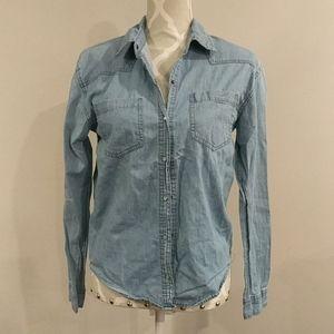 Forever 21 thin snap closure denim shirt